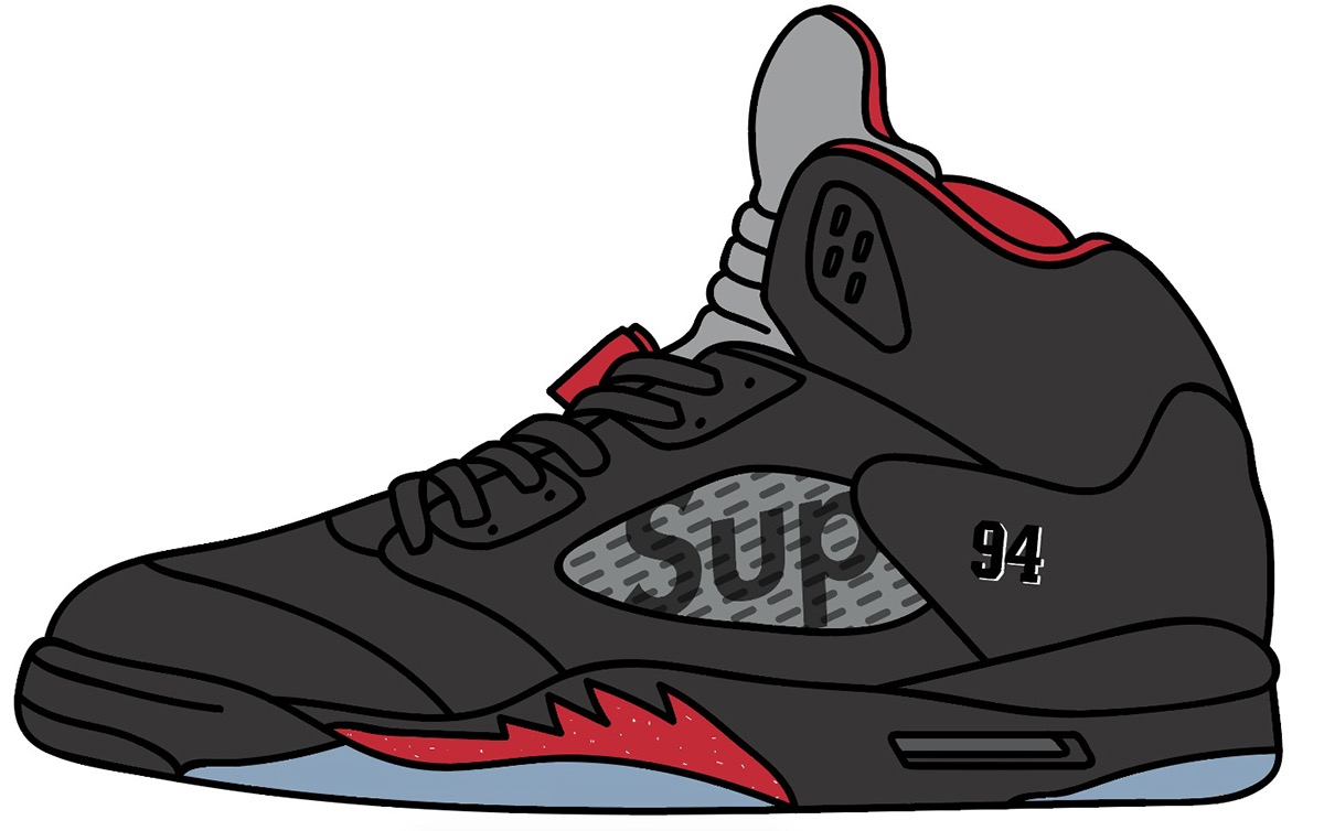 Supreme X Air Jordan Illustration on Behance