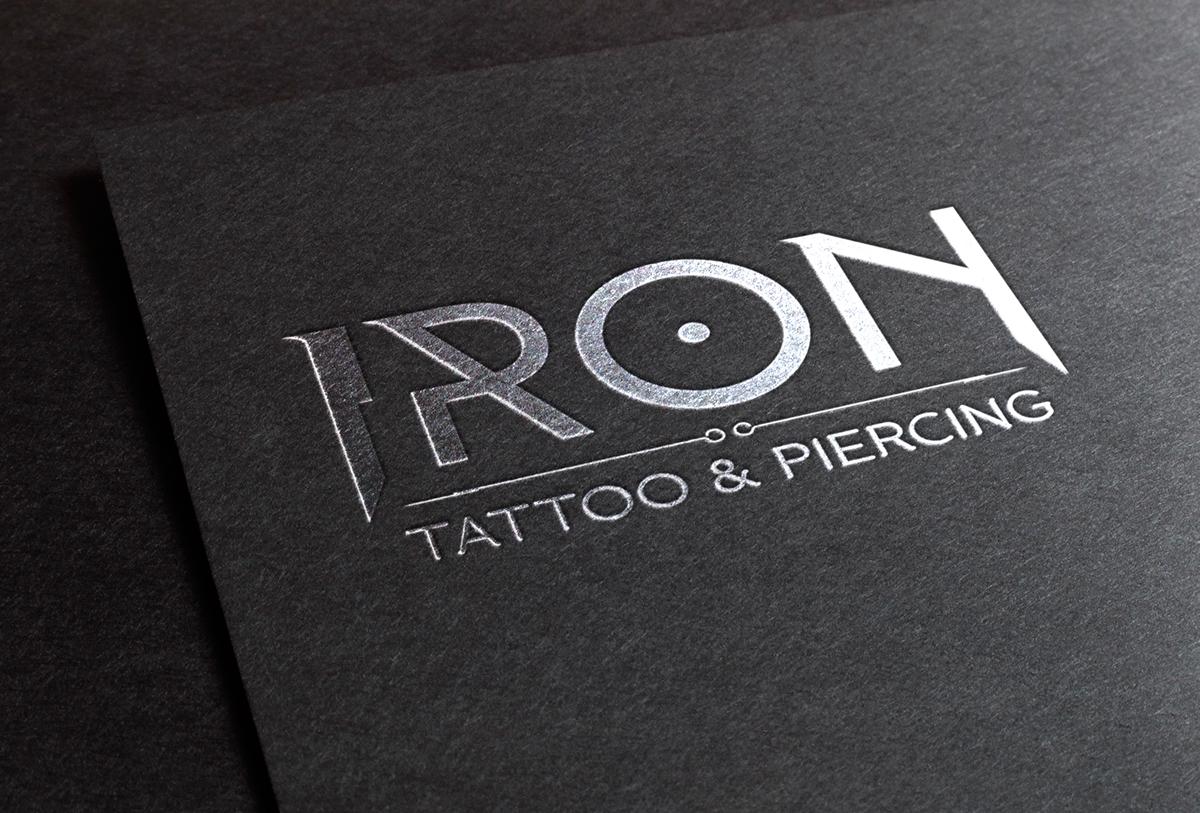 Logo Design Branding Iron Tattoo Piercing On Pantone Canvas