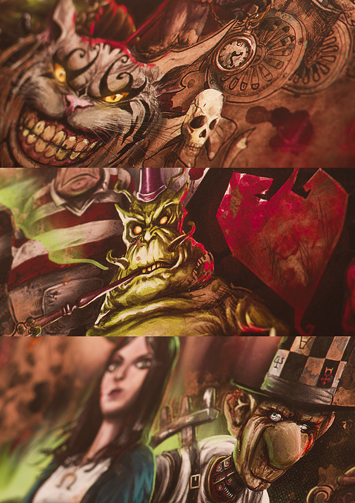 poster alice in wonderland lewis carroll Alice Madness Returns american mcgee Alice Liddle mad hatter white rabbit video game