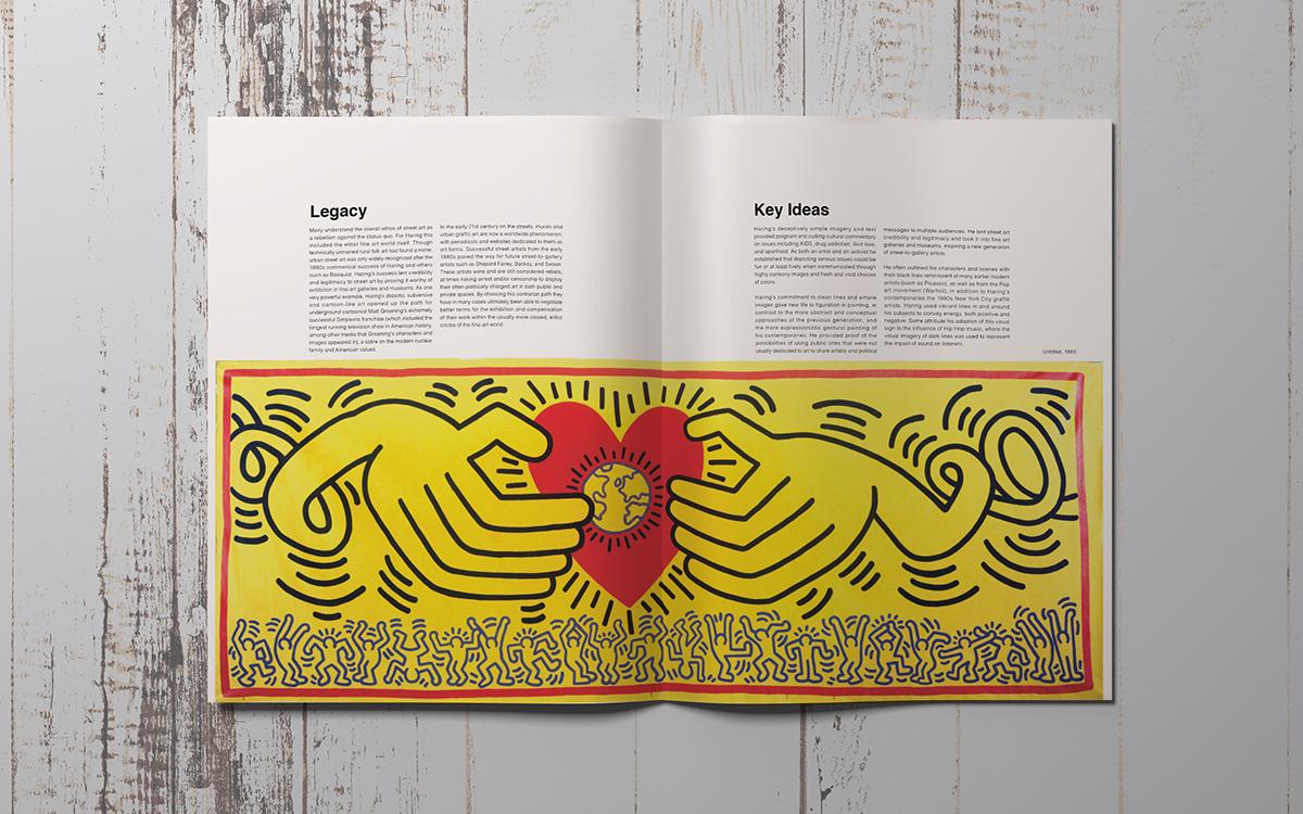 Keith Haring Artist Magazine on Behance