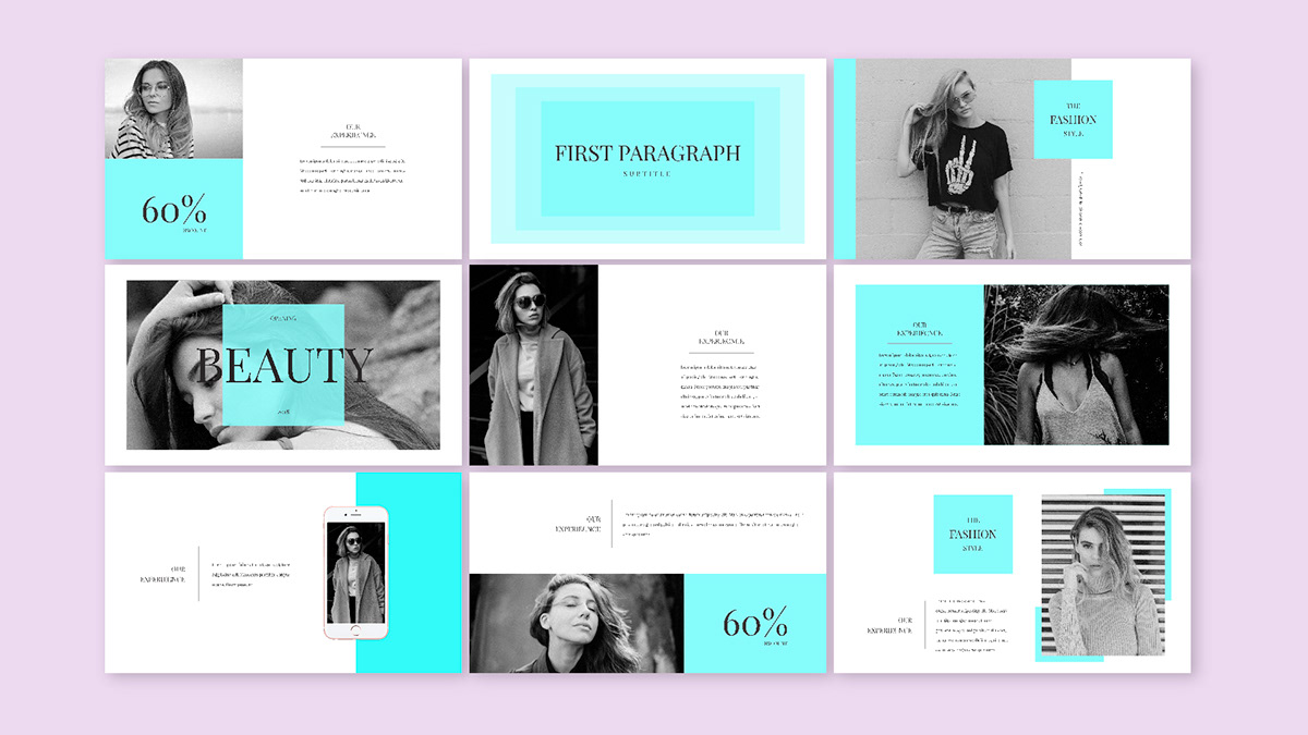 beauty presentation templates powerpoint keynote on behance
