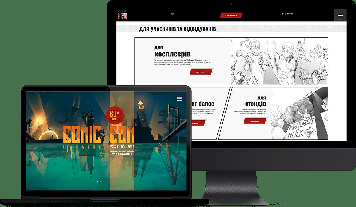 UI/UX design UI/UX Design site comics Comic Con comic con ukraine illustrations