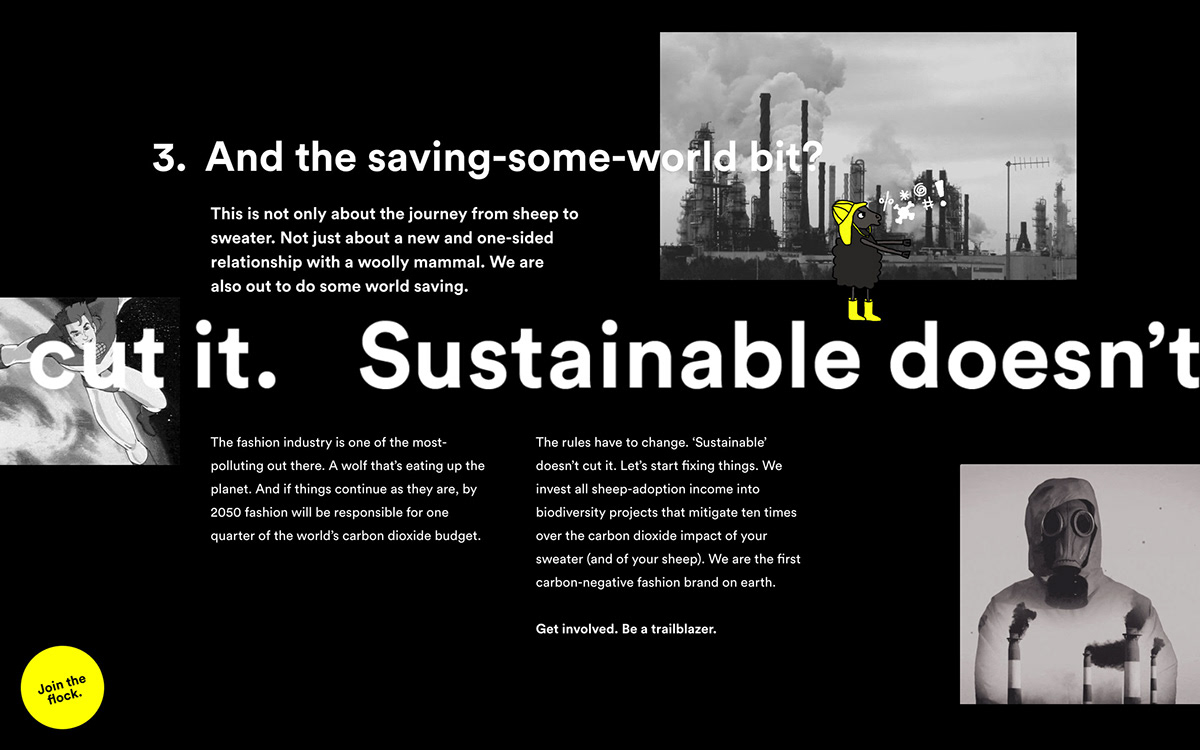 sheep Webdesign Sustainable carbon-negative sheep inc