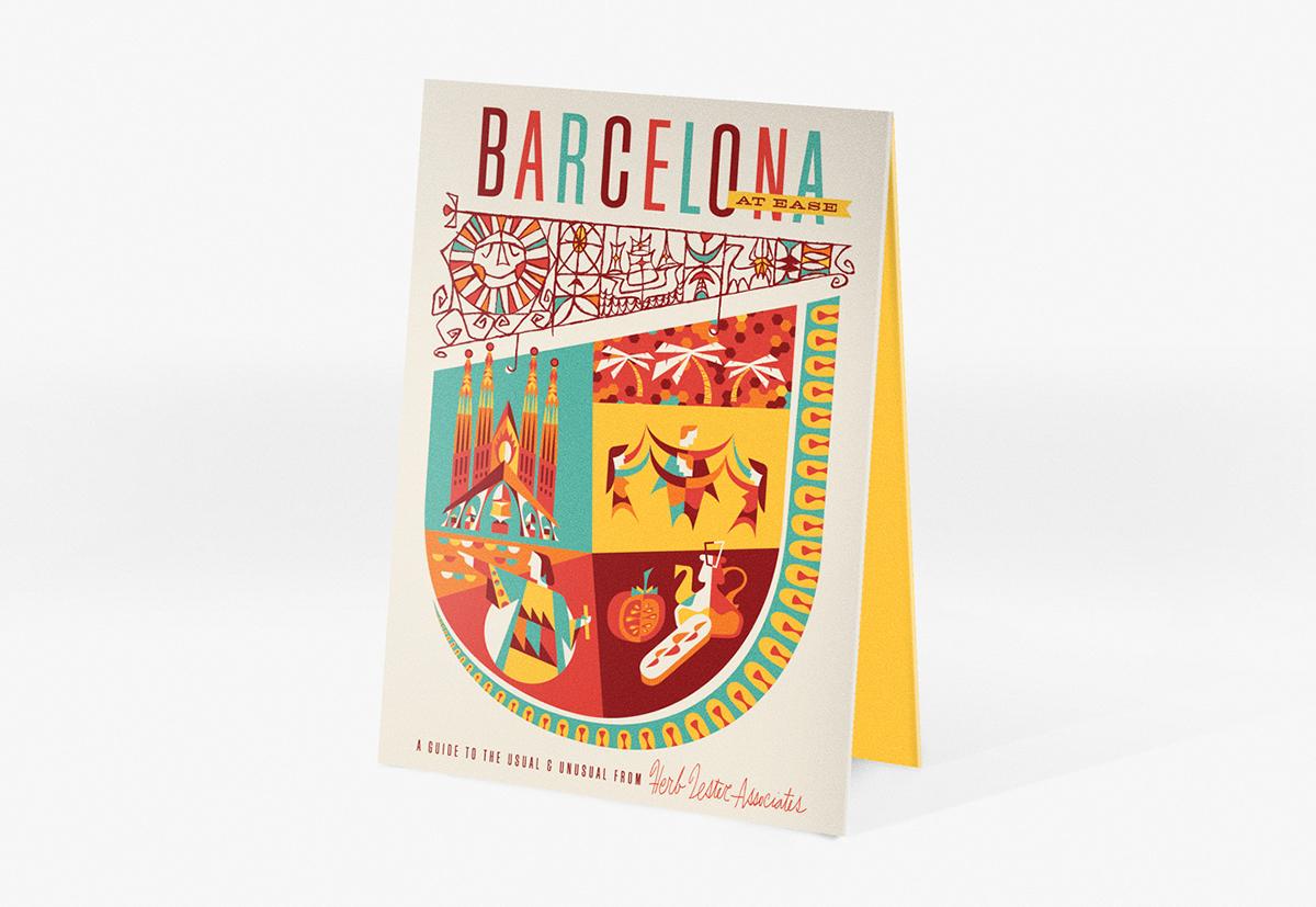 map Icon city Guide barcelona miami florida