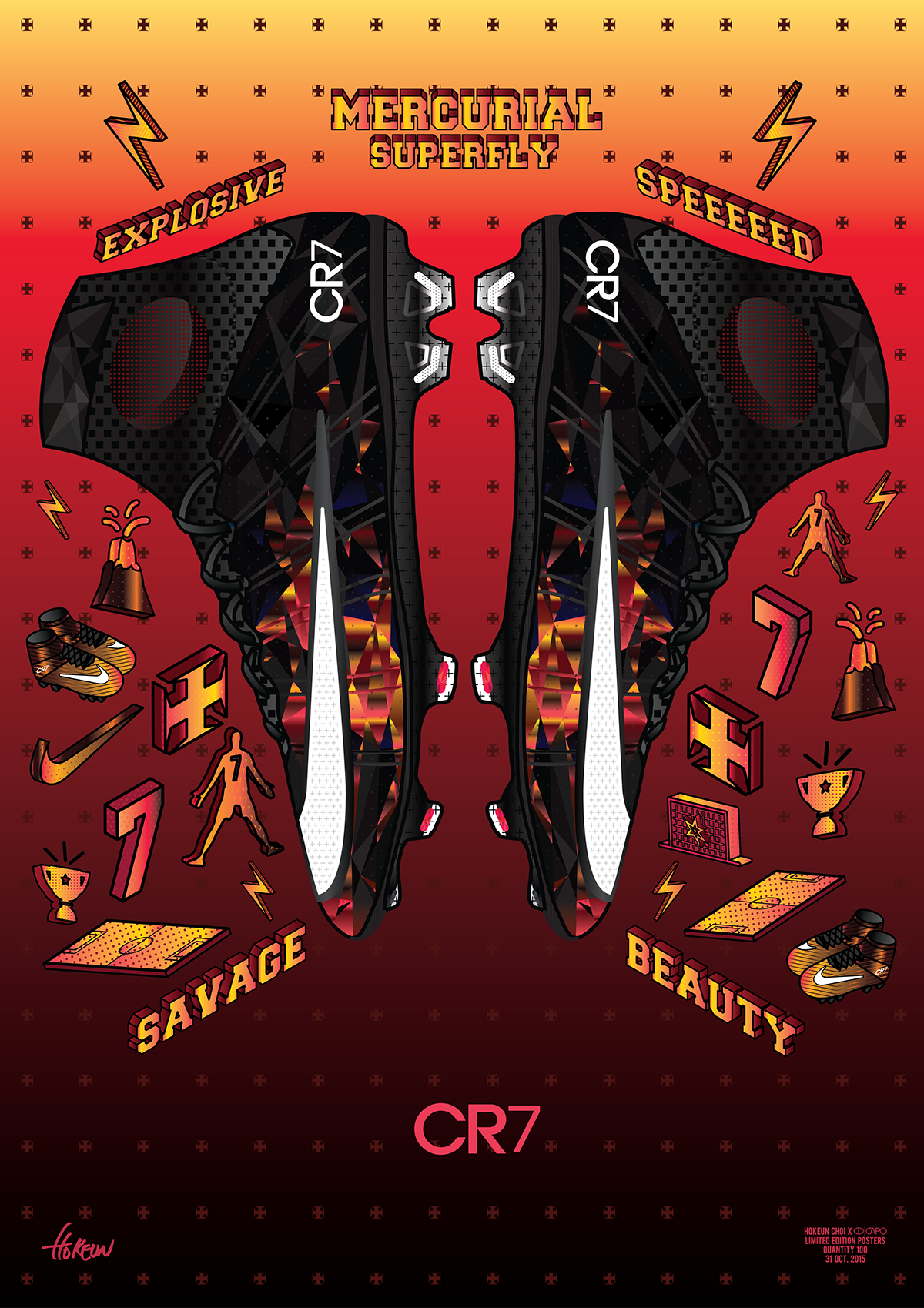 f8e383e658f MERCURIAL SUPERFLY  SAVAGE BEAUTY  POSTER ILLUSTRATION on Behance