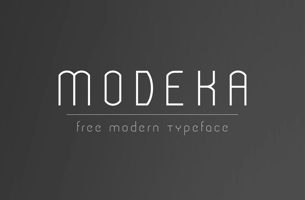 Modeka free font Typeface modern thin light