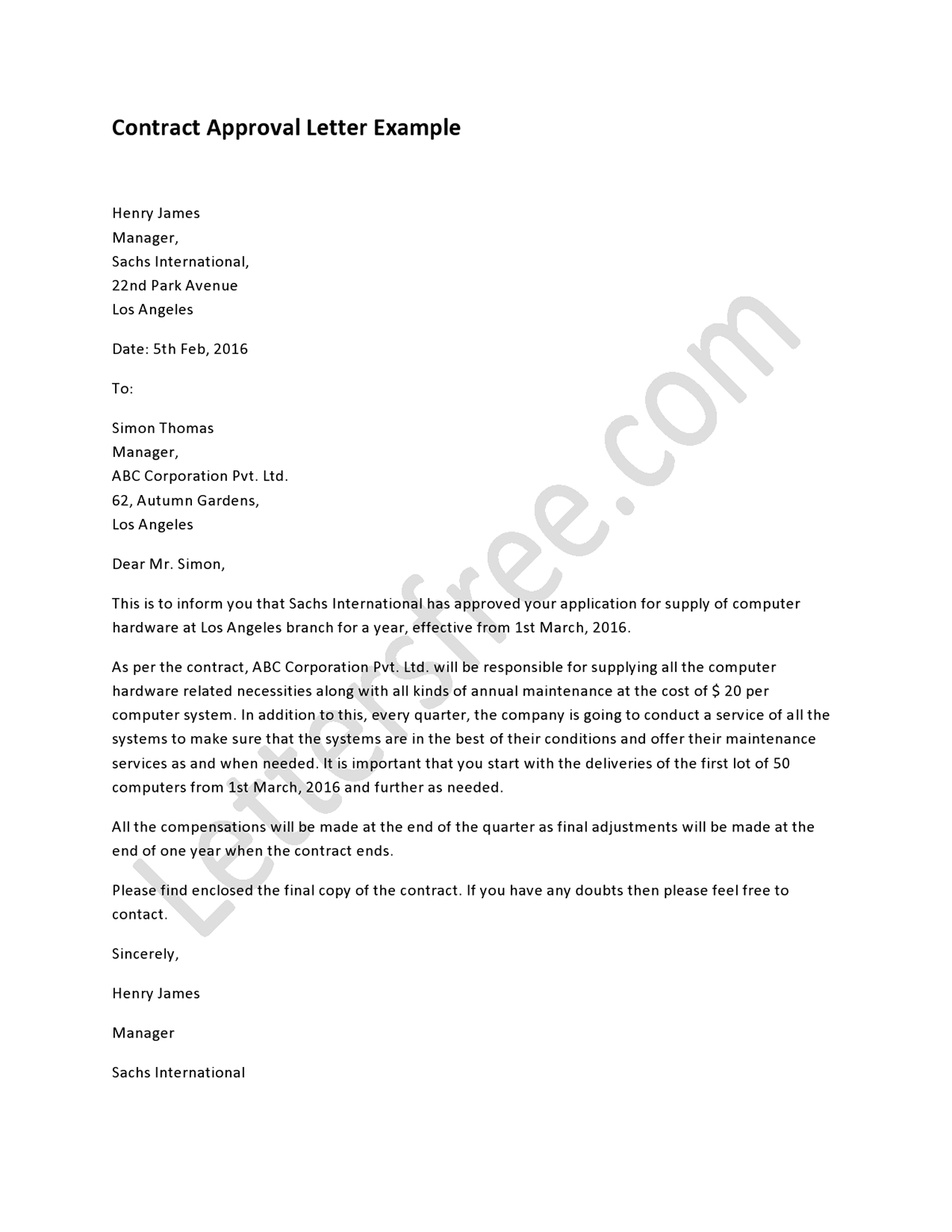 Sample Approval Letter Format Pictures To Pin On Pinterest