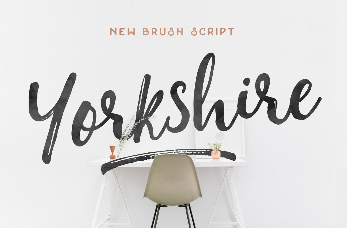 Yorkshire brush script on behance