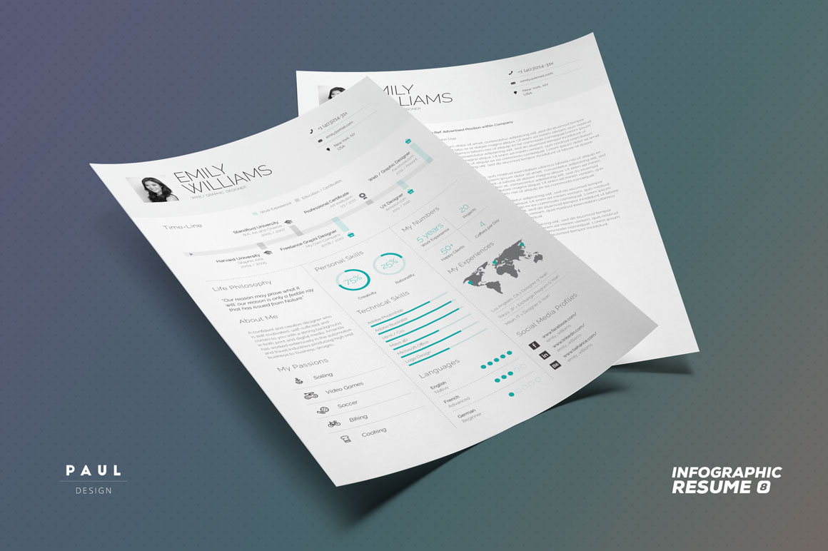 FREEBIE - Infographic Resume/Cv Volume 8
