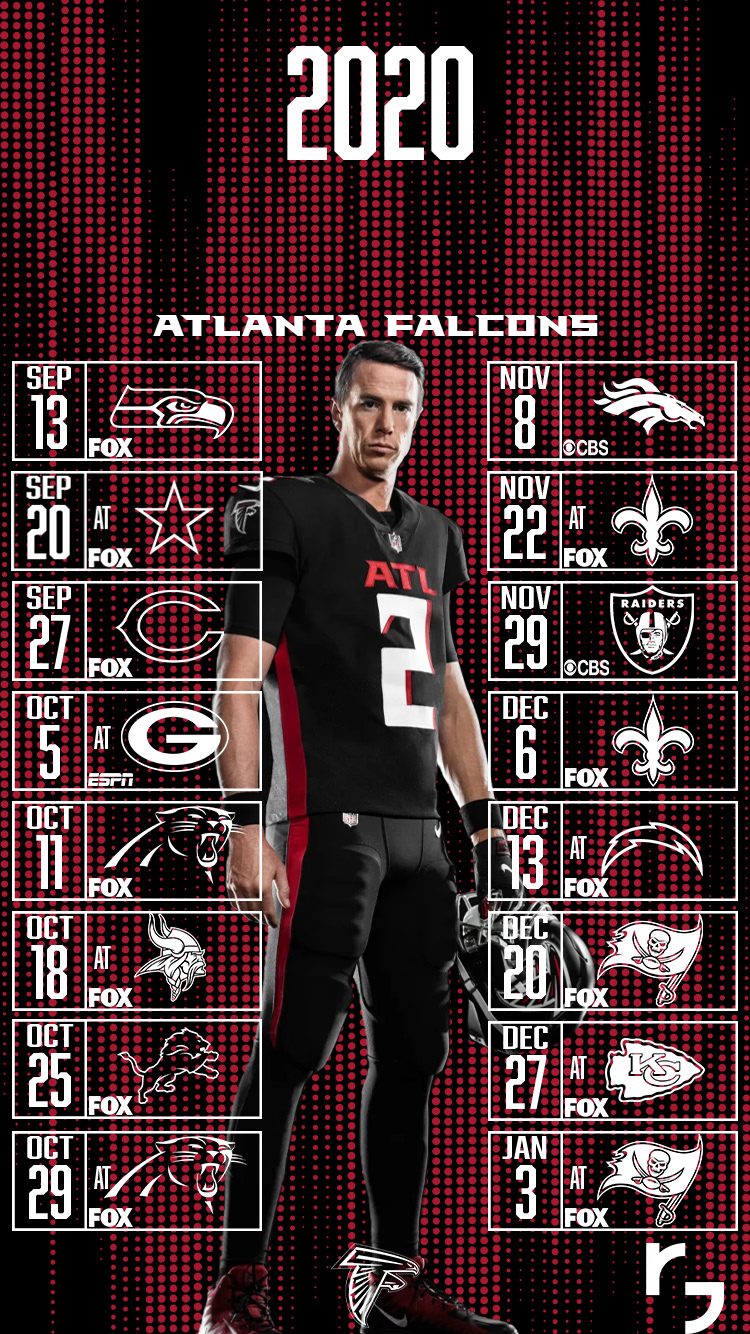 2020 Atlanta Falcons Schedule Wallpapers On Behance