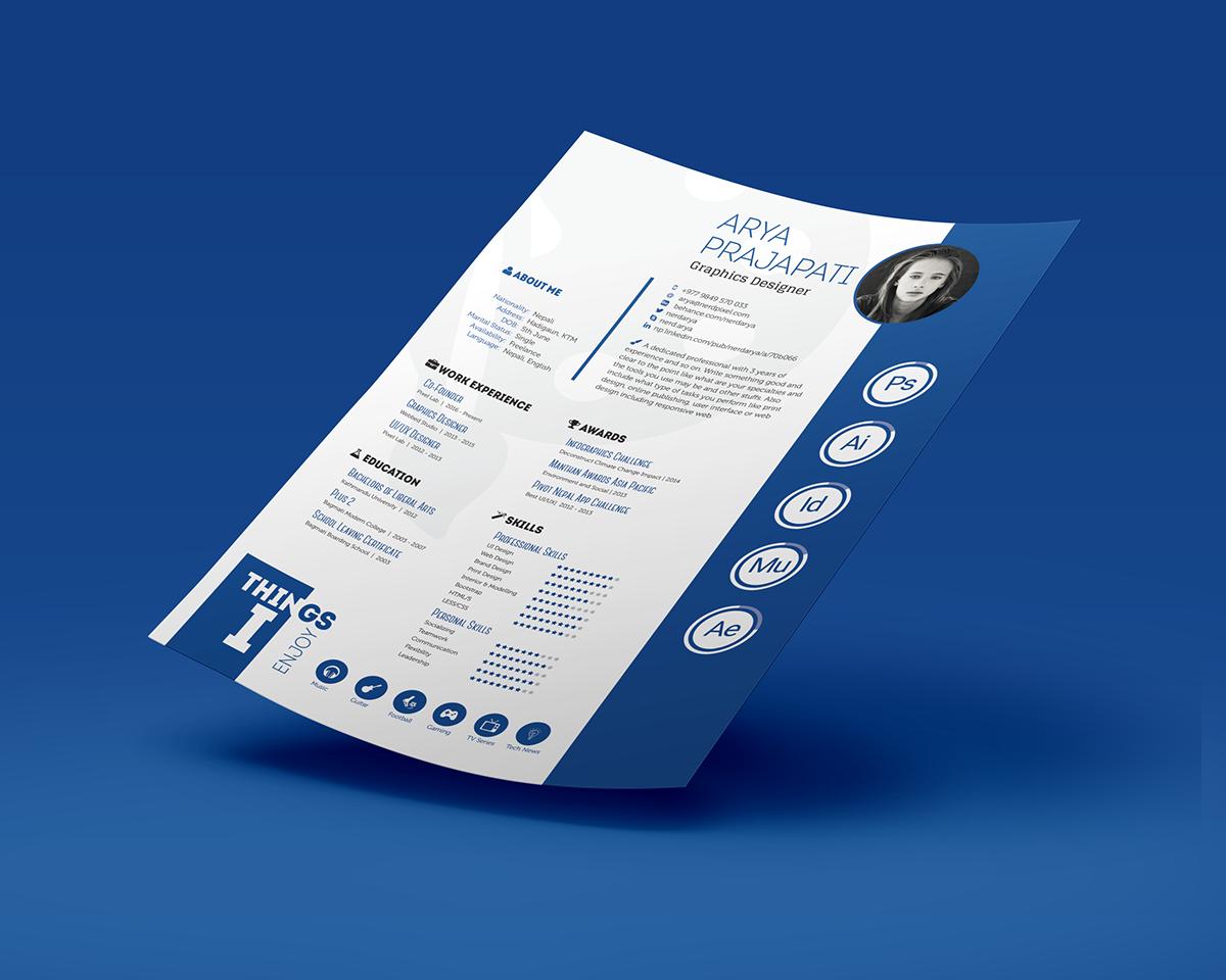 free print ready resume on behance