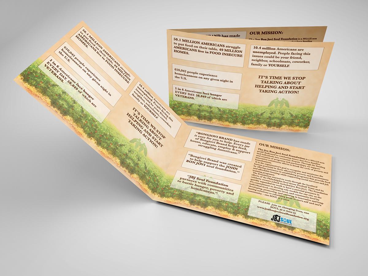 brochure insert on behance