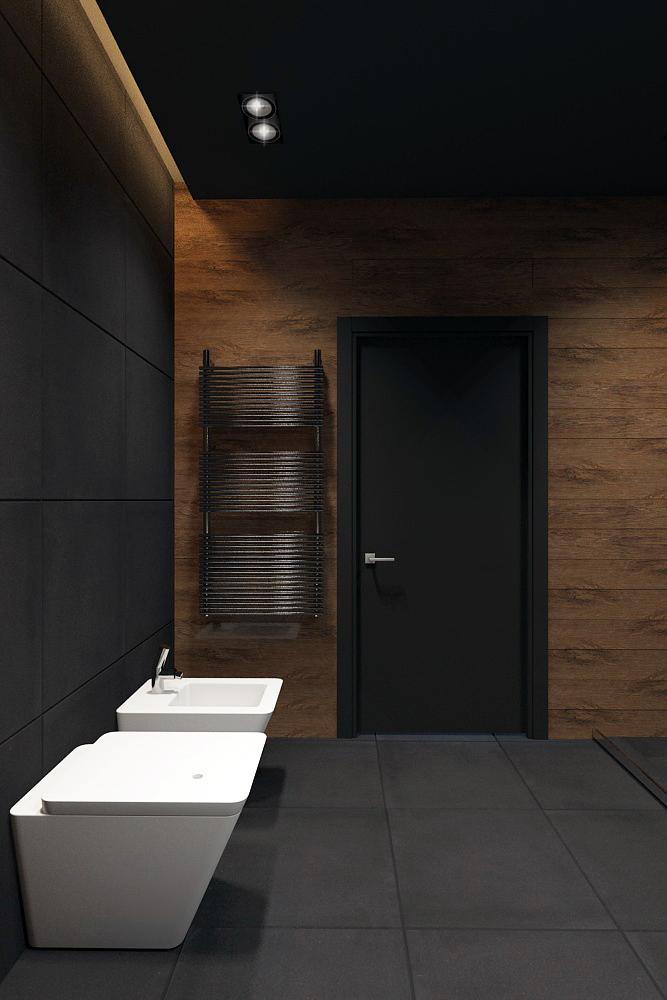 bathroom black style  Minimalism