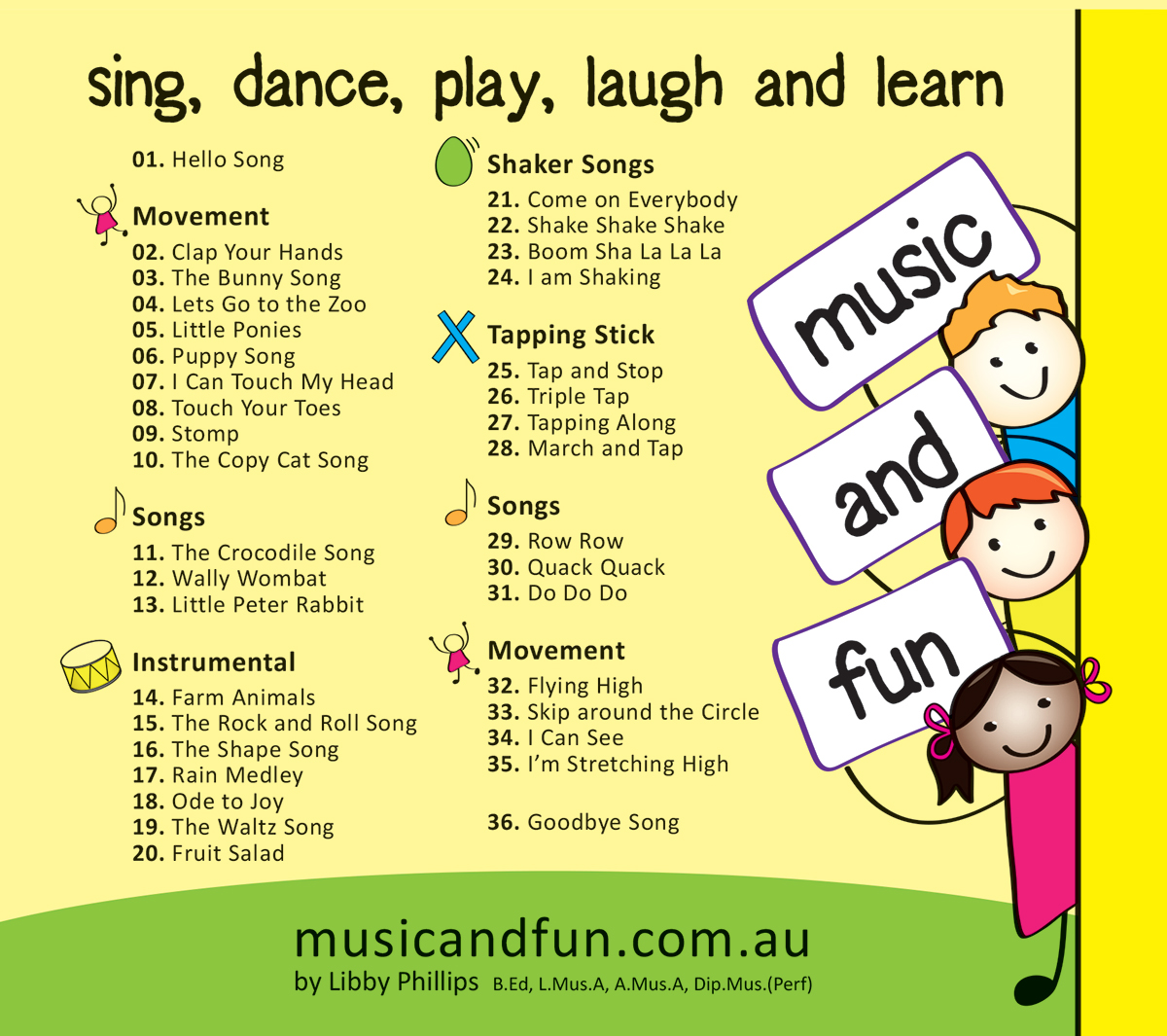 Music and Fun - CD Toddler and Kindy versions on Behance