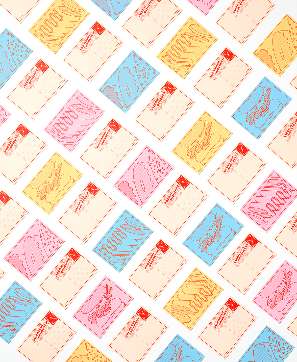 postcard post card silk screen print Printing Screenprinting sandwich type #Ps25Under25