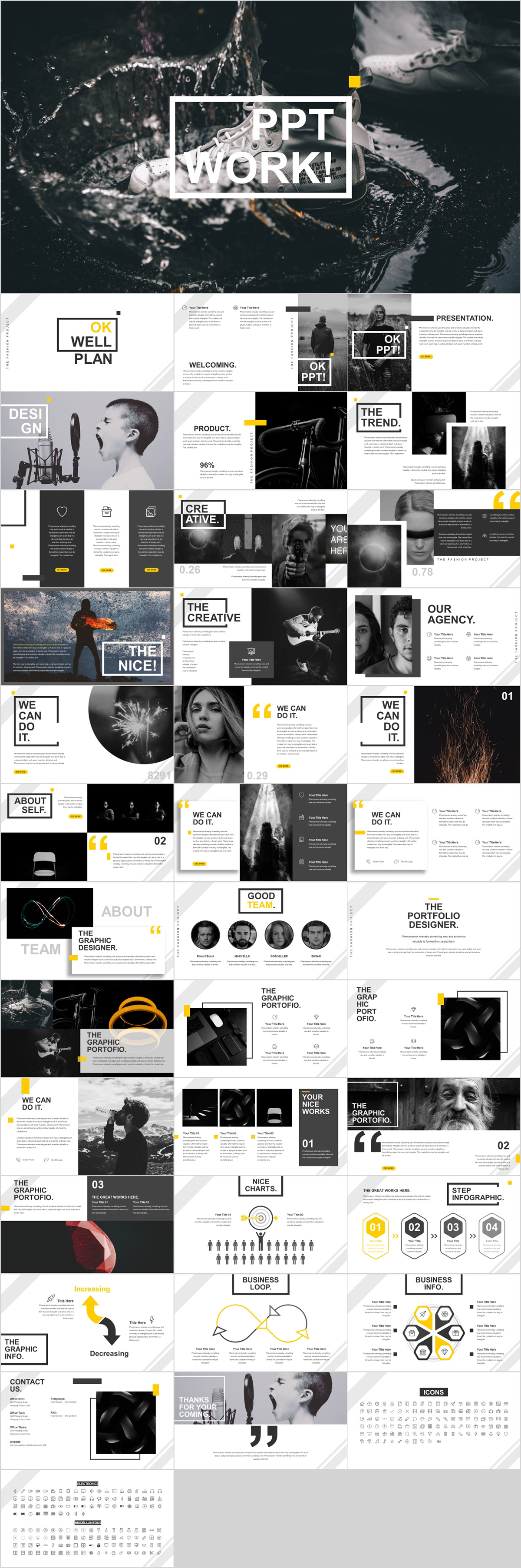 best company introduction powerpoint template on behance