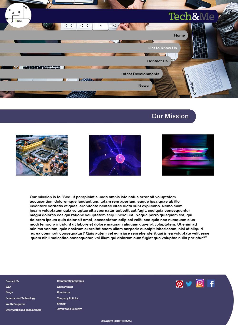 Web Design Tech Co On Behance