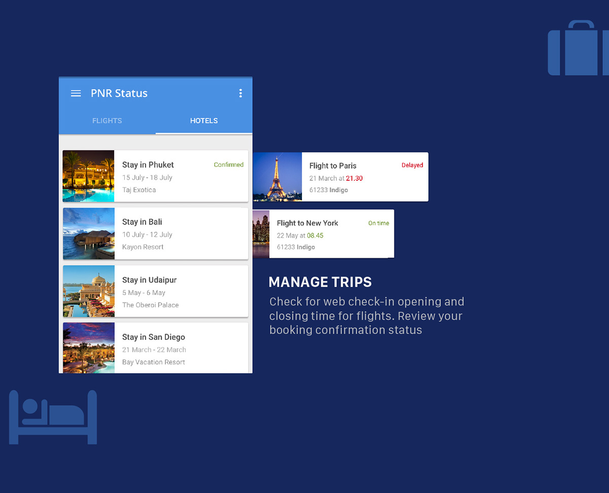 Trips and PNR app on Student Show