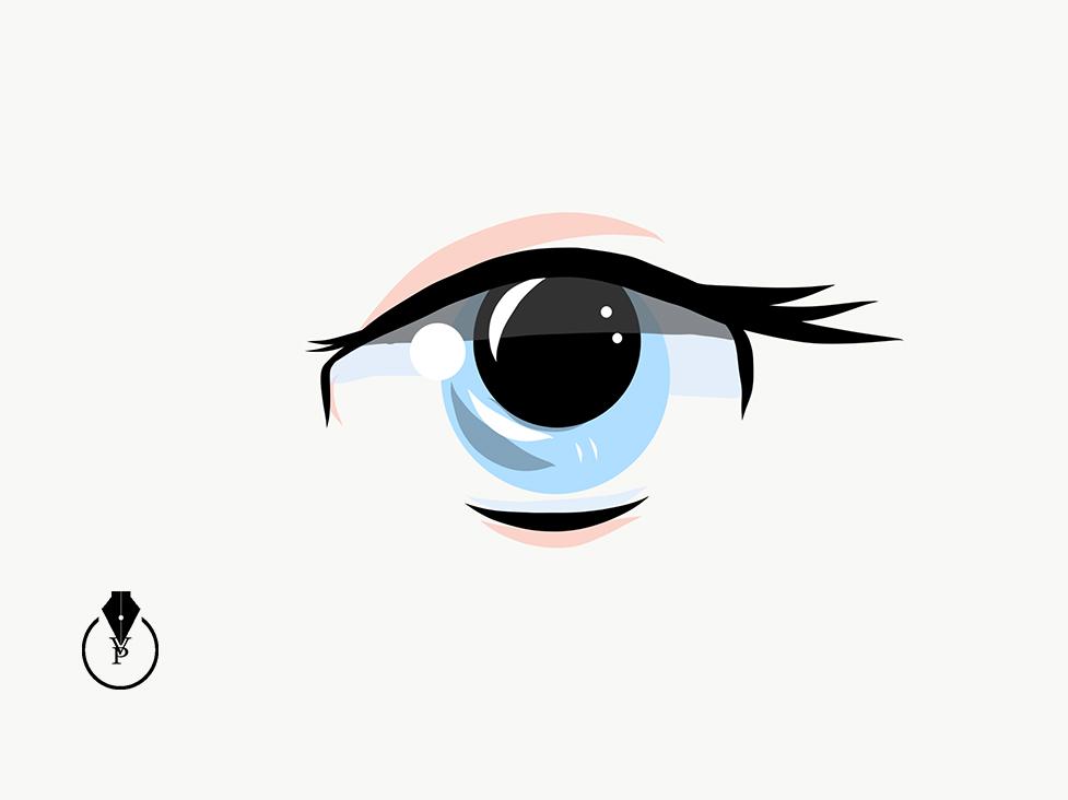 Drawing Manga Eye in Adobe Illustrator Draw on Behance