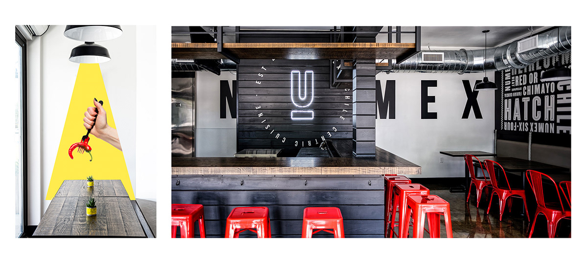 modern minimal resturant Mexican yellow colorful bold identity chile adobeawards