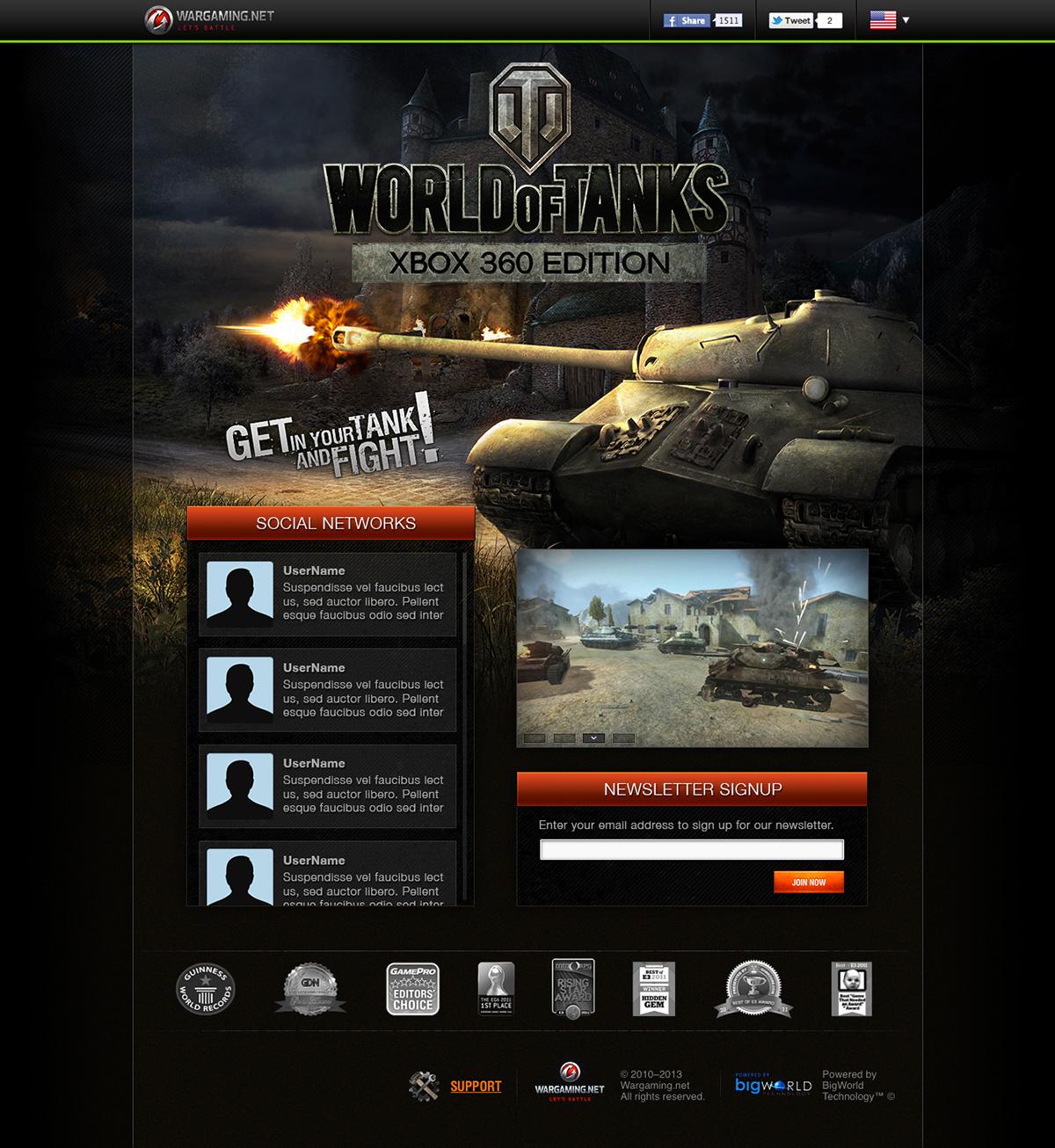 World of Tanks: Xbox 360 Edition - Microsite on Behance