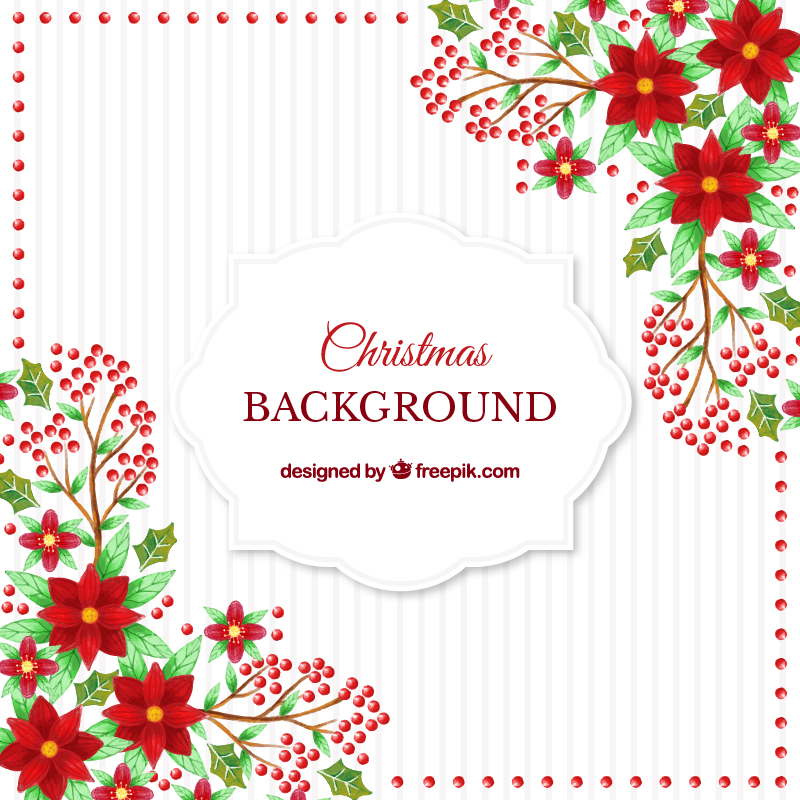 Free Watercolor Christmas Vector Illustrations On Behance