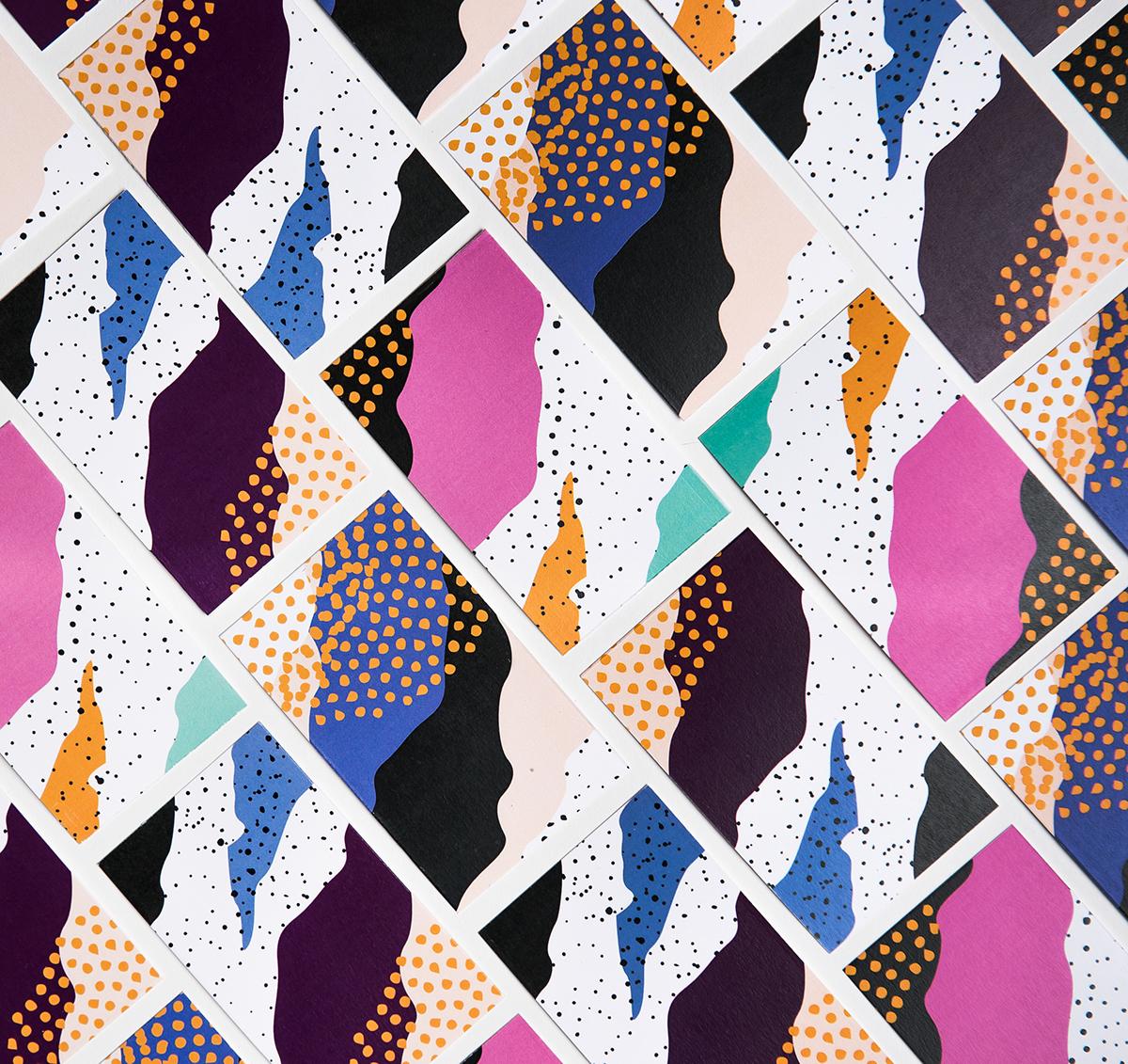Sweden mochiice icecream package design Nordic Design print pattern take away