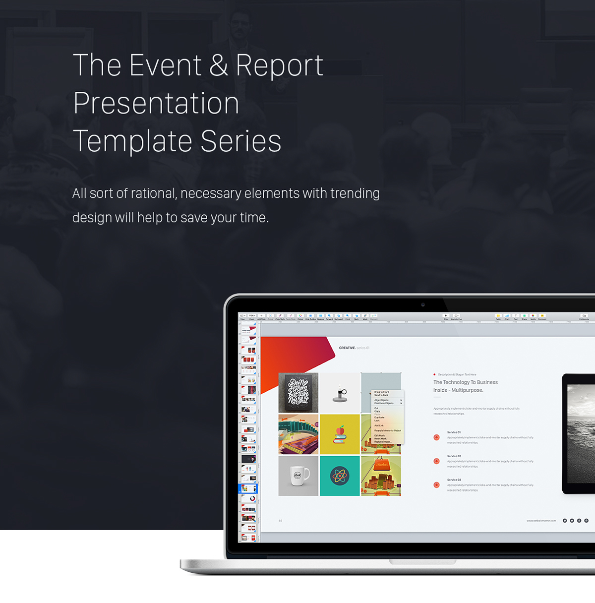 Creative powerpoint theme event report theme series by simplesmart event report presentation series 01 creative toneelgroepblik Image collections