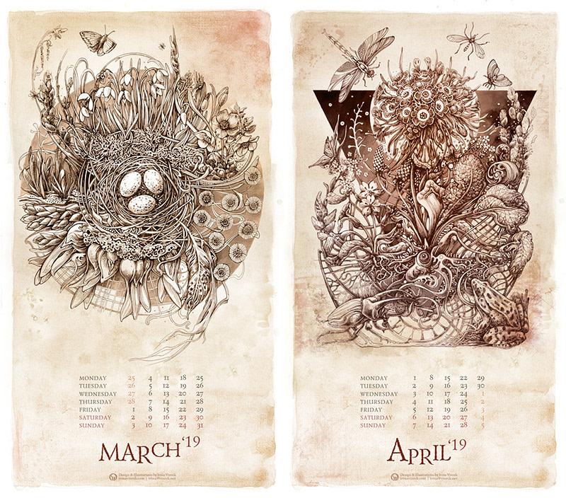 calendarios originales - calendario Botanicus