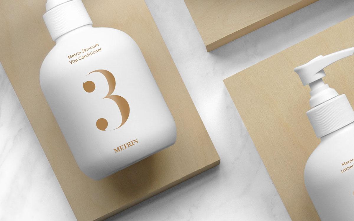 skincare cream branding  brand skin natural Packaging product leaf Marble