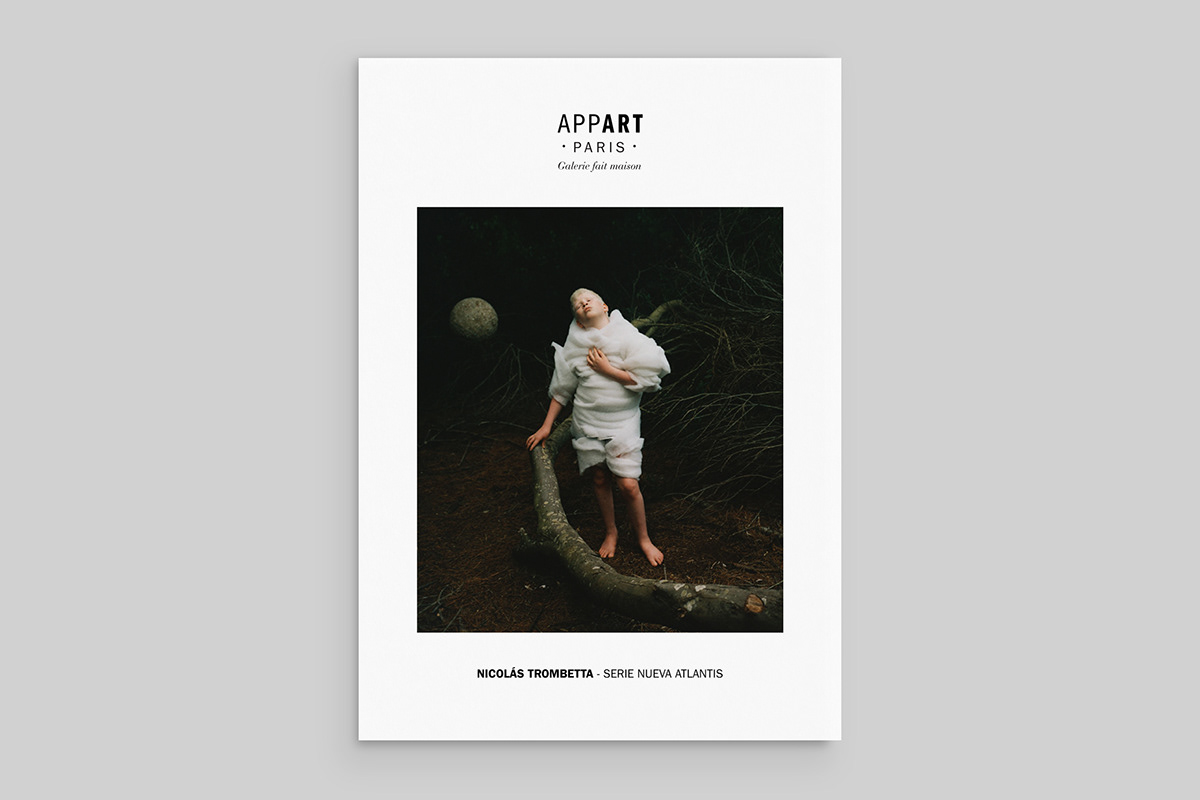 Brand identity for AppArt Paris an ephemeral and itinerary gallery born in Paris