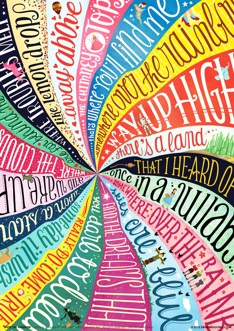 Adobe Portfolio draw me a song lettering Lyrics John Lennon Imagine crazy Barbie Girl Umbrella SatisfAction fame madonna Rihanna Led Zeppelin amy winehouse Aretha Franklin