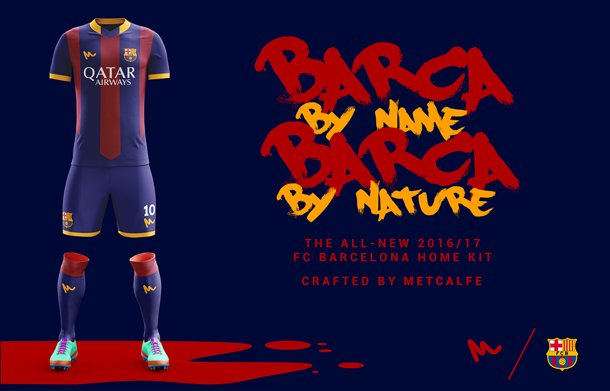 separation shoes 5000f 3a8d4 2016 FC Barcelona Kit Concepts by Metcalfe on Behance