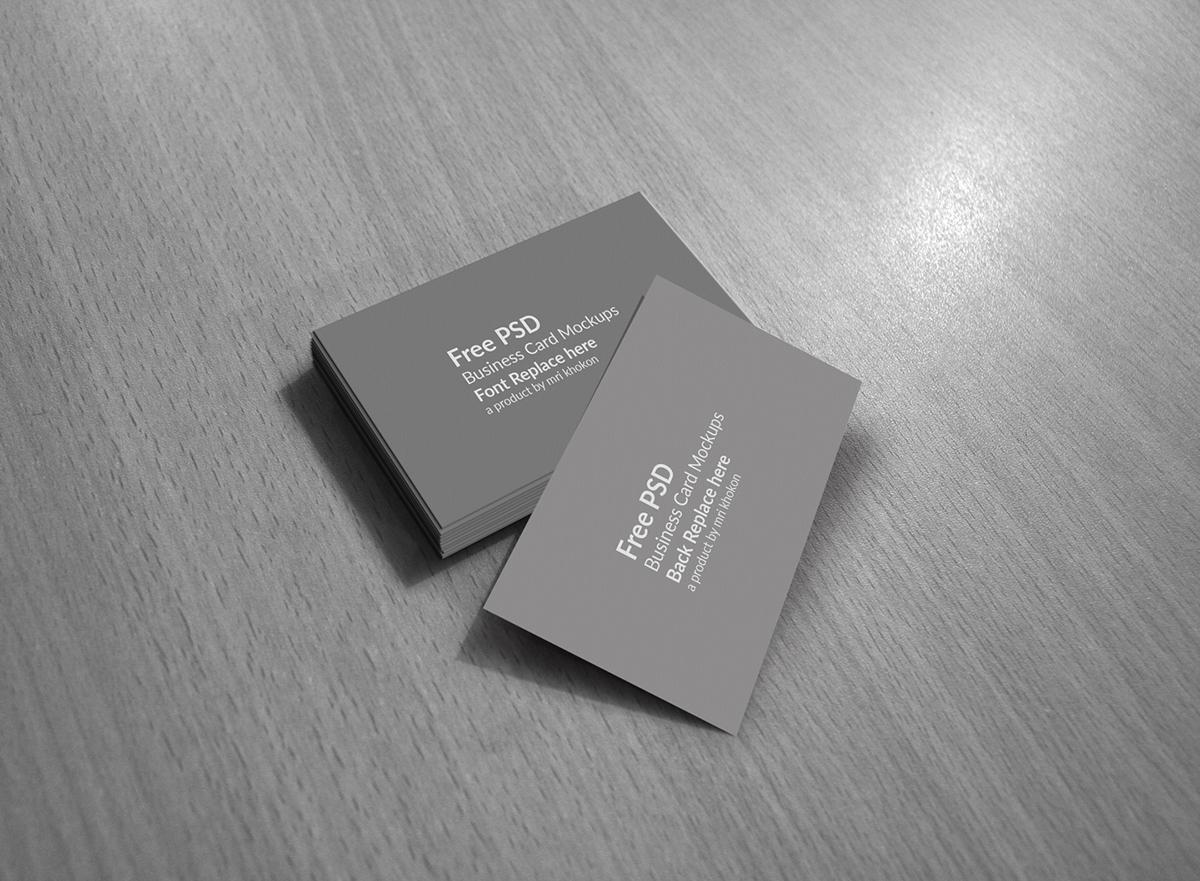 Free PSD Business Card Mockups on Behance