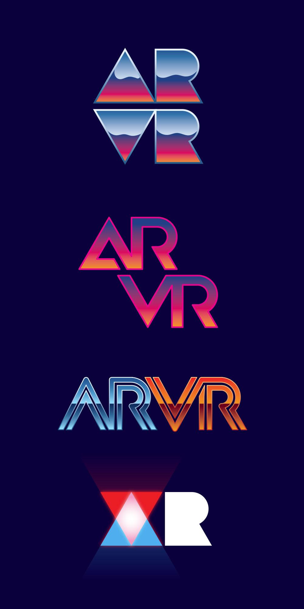 design graphic design  branding  logo Illustrator photoshop facebook neon AR vr