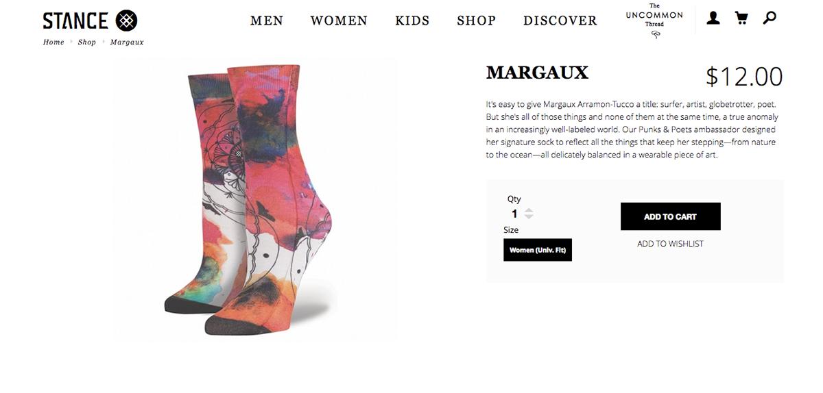 stance socks Mandala watercolors