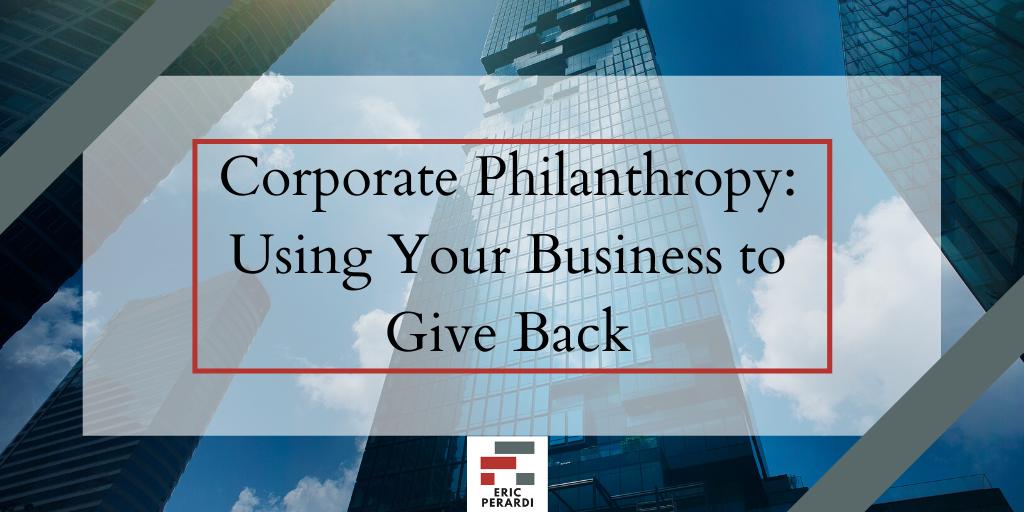 Blog copywriting  eric perardi Philanthropy  writing
