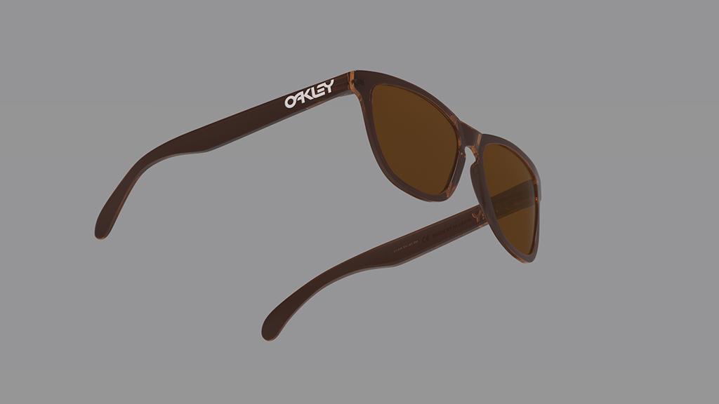 oakley Frogskins 3D Render product Visialization black keyshot modeling