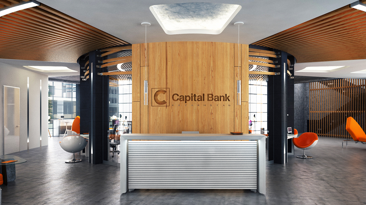 Capital bank kazakhstan on wacom gallery for Office design kazakhstan