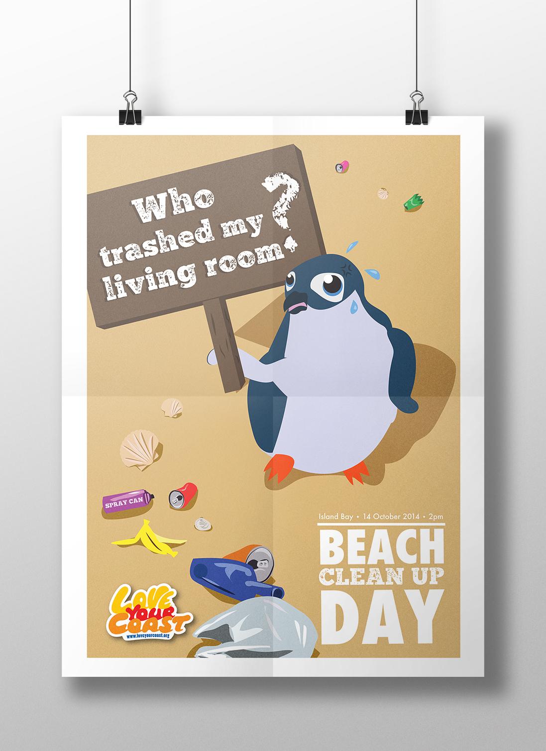 beach New Zealand penguin children