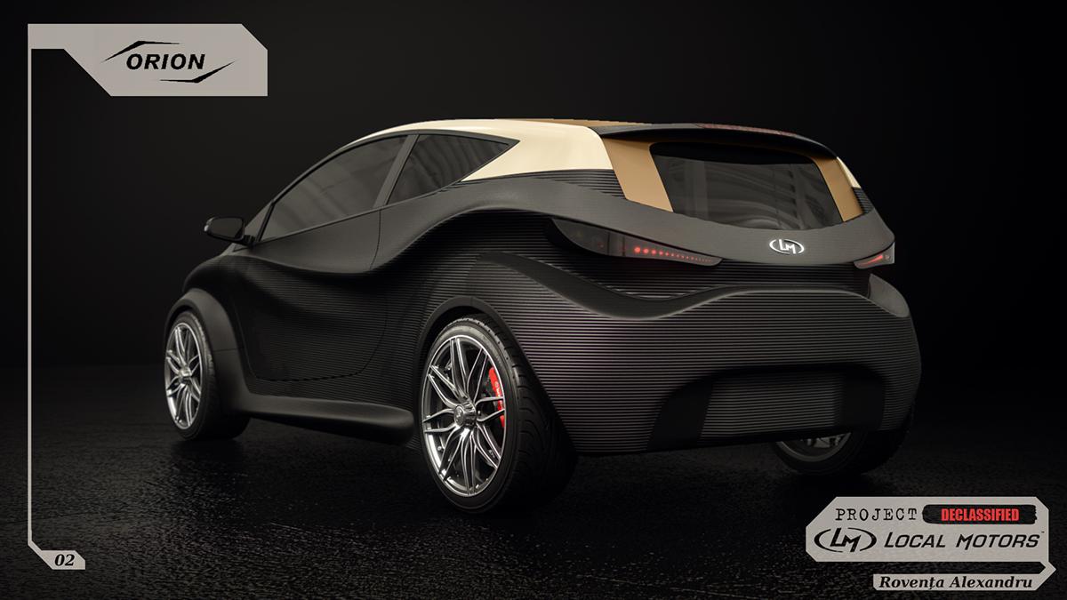 roventa alexandru ruver design automotive   car concept Local Motors lm 3D 3d printing 3d max 3ds Vehicle