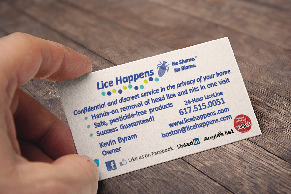 Lice Happens Business Card on Behance