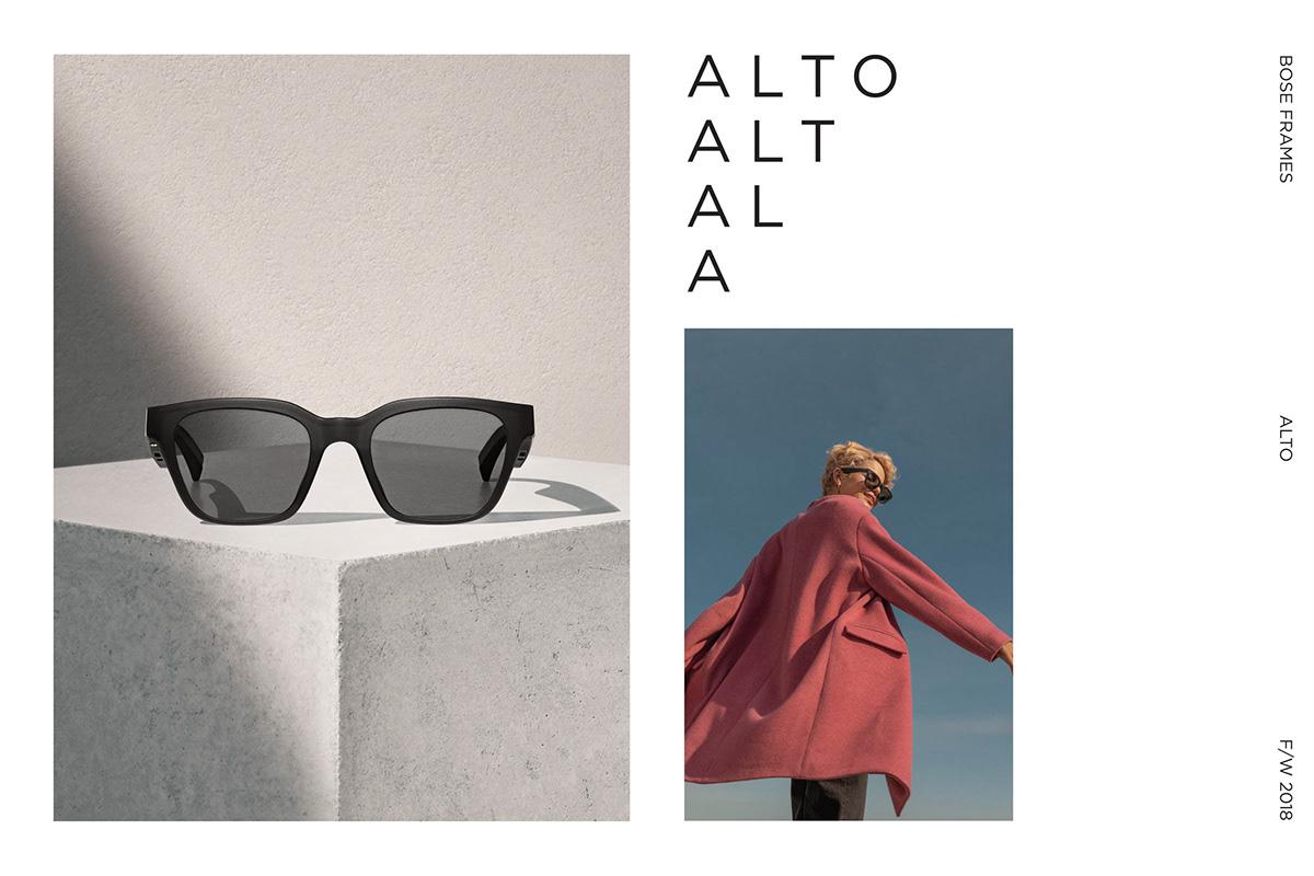 design branding  campaign Sunglasses eyewear poster animation  Bose graphic design  Photography