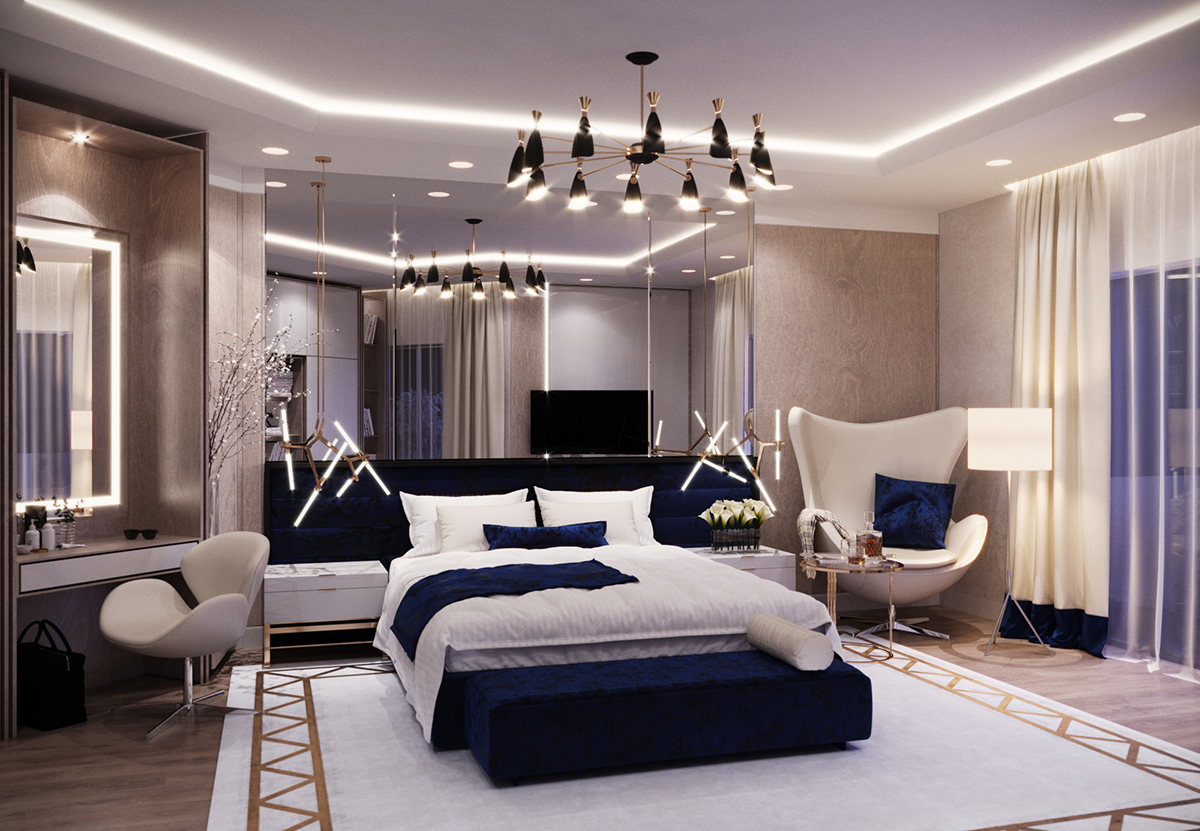 Master bedroom on Behance Master