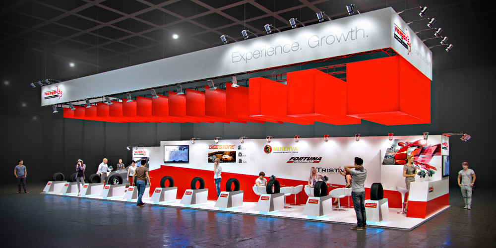 Exhibition Stand 2017 : Varga tires automechanika dubai uae on behance