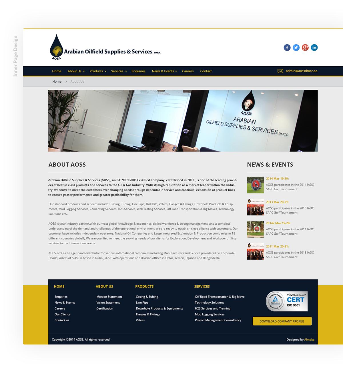AOSS Website Design on Student Show