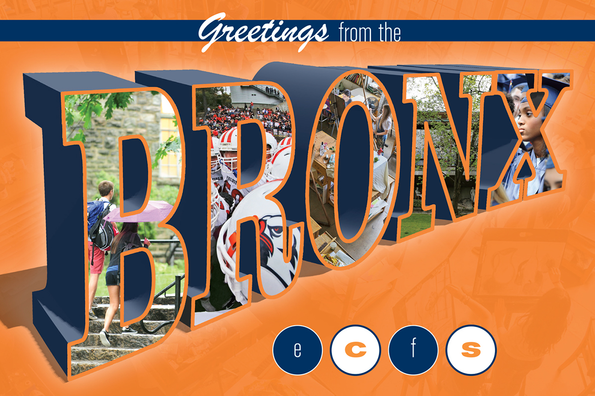 Greetings From The Bronx Ecfs Postcard On Behance