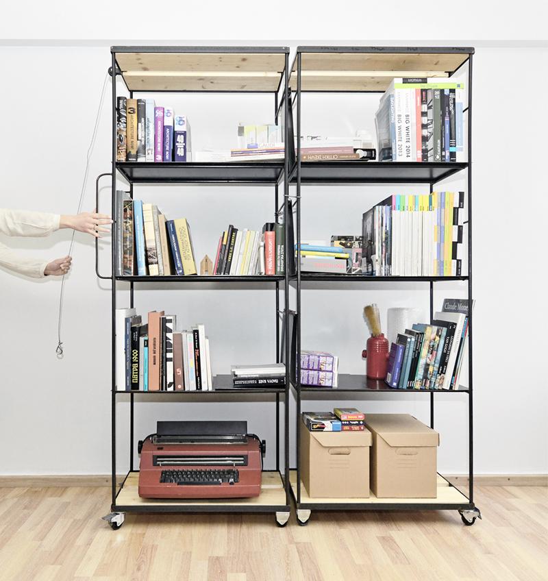 bookcase industrial agili krama transform metal wood furniture bookshelves storage