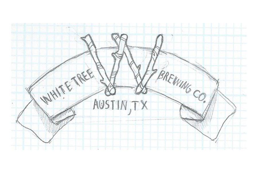 Logo Design process sketches craft beer brewery