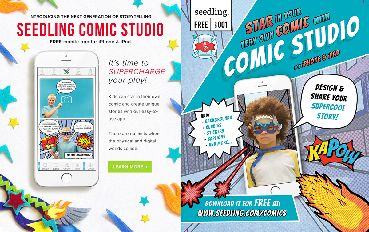 App Design | Seedling Comic Studio (2016) on Behance